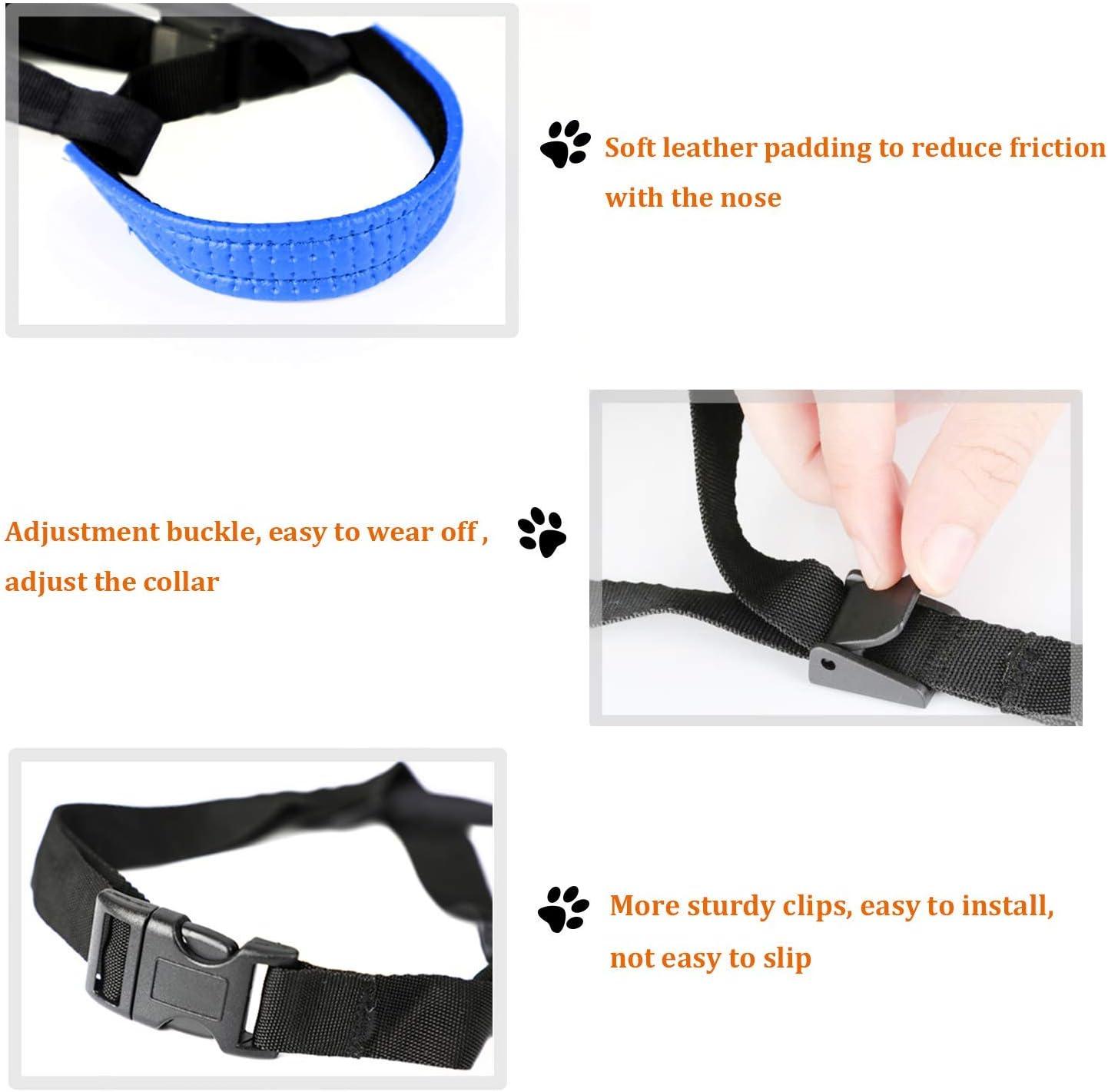 Confortable al Tacto el Collar para Perros Frena los Tirones y Deja de Tirar RockPet Correa de Adiestramiento para Perros de Piel Acolchado L,Verde Herramienta de Entrenamiento Ajustable