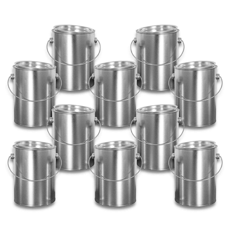 10x23009 Set di 10 scatole di latta con coperchio 2,5 L ml