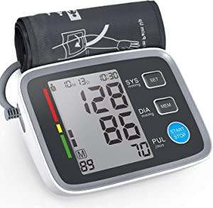 ALPHAGOMED Blood Pressure Monitor with 20 inch Blood Pressure Cuff Automatic Sphygmomanometer for High Blood Pressure Users Supports 2 People and 180 Memory Records