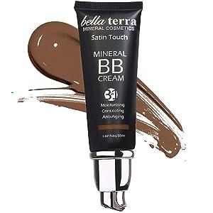 Bella Terra BB Cream, Tinted Moisturizer, Foundation 1.69oz - Dark 108