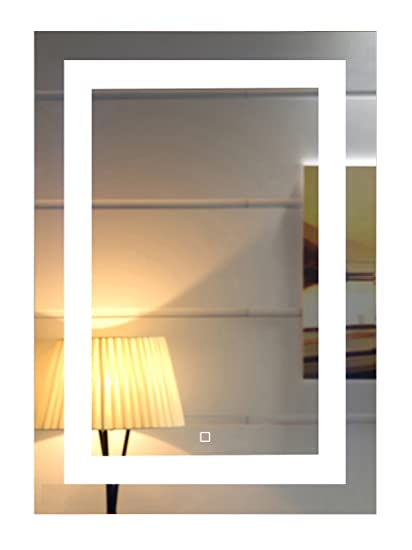 Amazon Com 20x28 Inch Wall Mounted Led Lighted Bathroom Mirror With