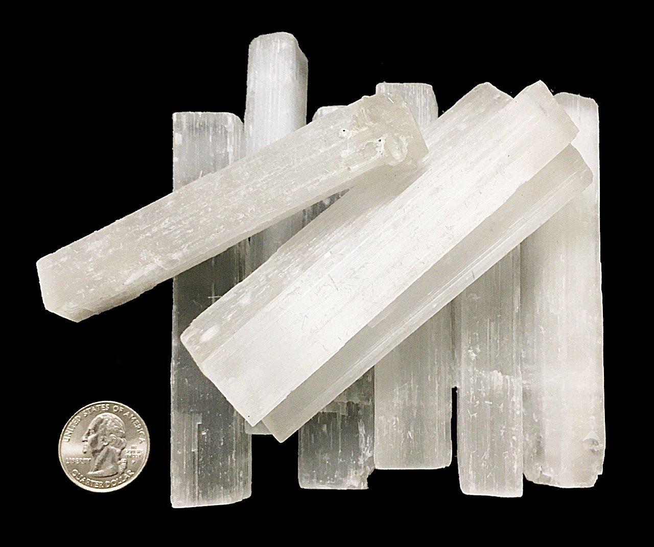 1 Pound of Selenite Sticks - Reiki - Chakra - Crystal Healing