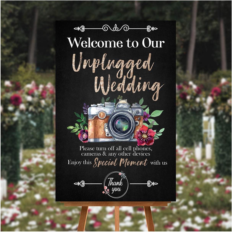 Amazon Com Unplugged Chalkboard Wedding Ceremony Sign Wedding Ceremony Sign Wedding Poster Sign Wedding Design Ideas Wedding Decor Party Photo Print Sizes 24x36 Posters Prints