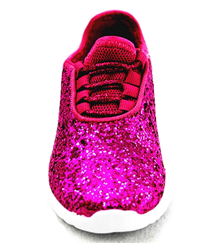 Forever Link Remy-18k Kids Todddler Girls Fashion Sneaker Glitter Flat Lace Up Shoes