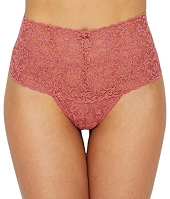 4fe1ba69dfa7 Hanky Panky Women's Retro Thong, Pink Sands, One Size at Amazon ...