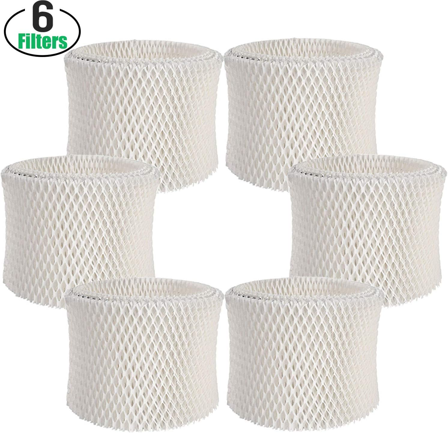 Lxiyu 6 Pack Premium Humidifier Wicking Filters Replacement, Compatible with Honeywell Filters A HAC-504, HAC-504AW, HCM 350,HCM-300T,HCM-631 and Other Cool Mist Humidifiers