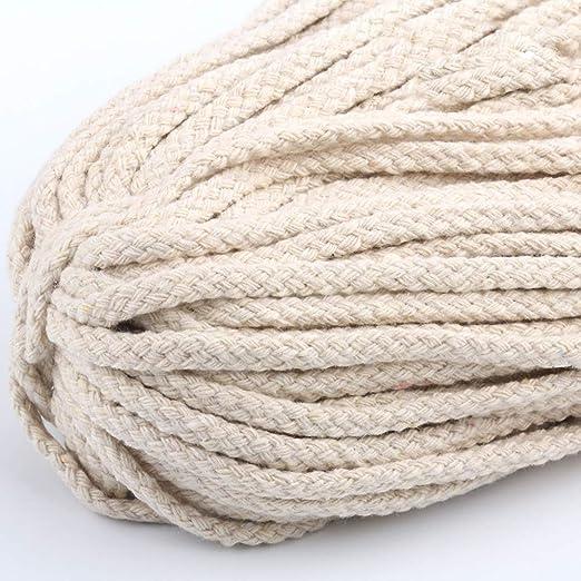 Faderr - Cuerda de algodón suave, 5 mm, 100 m, multicolor, de ...