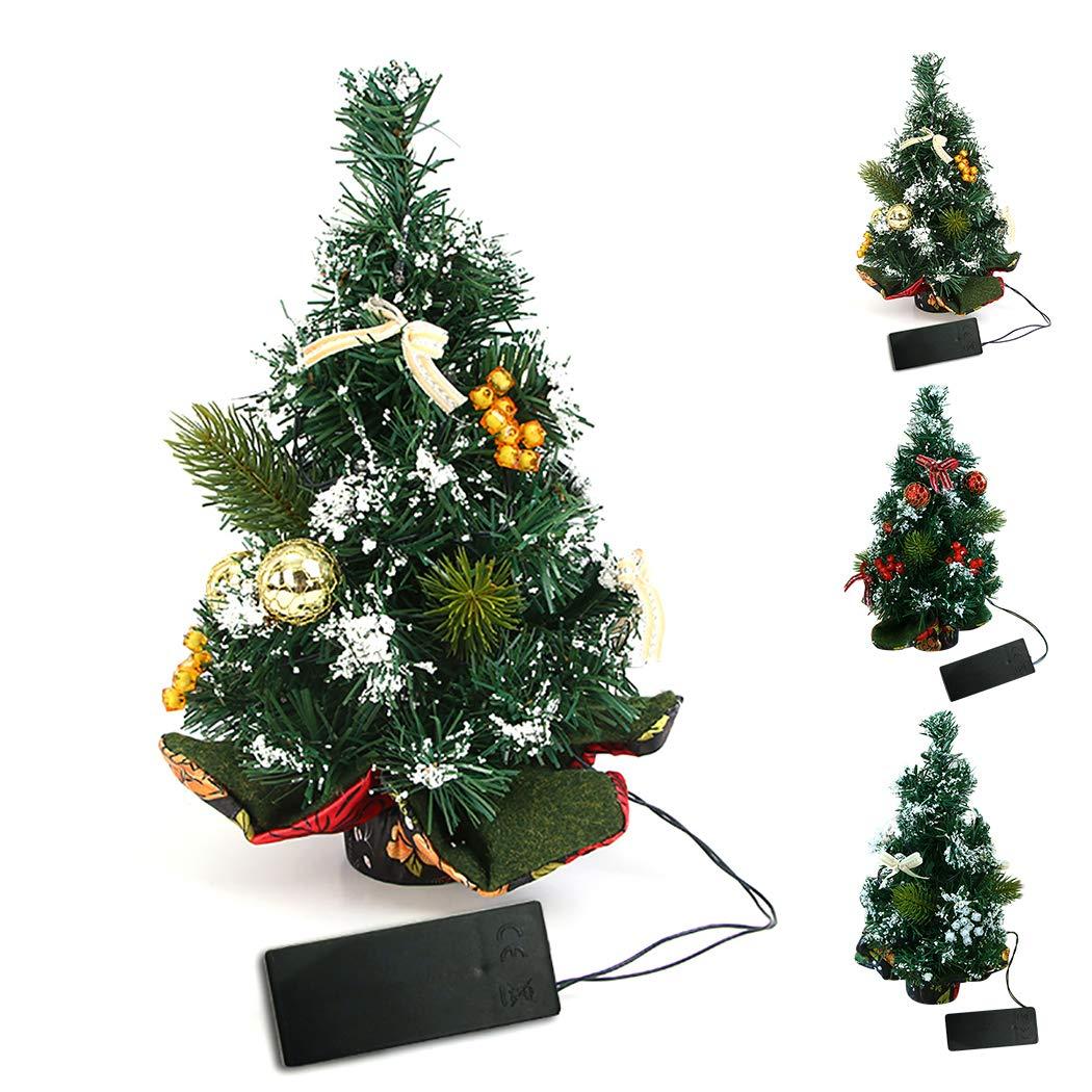 Amazon.com: B bangcool 11.81\'\' Mini Christmas Tree Artificial Xmas ...