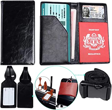 Blue Lake And Green Trees Travel Passport /& Document Organizer Zipper Case