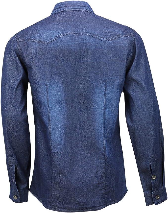 Cowboy - Camisa casual - para hombre Blue, Grey Medium ...