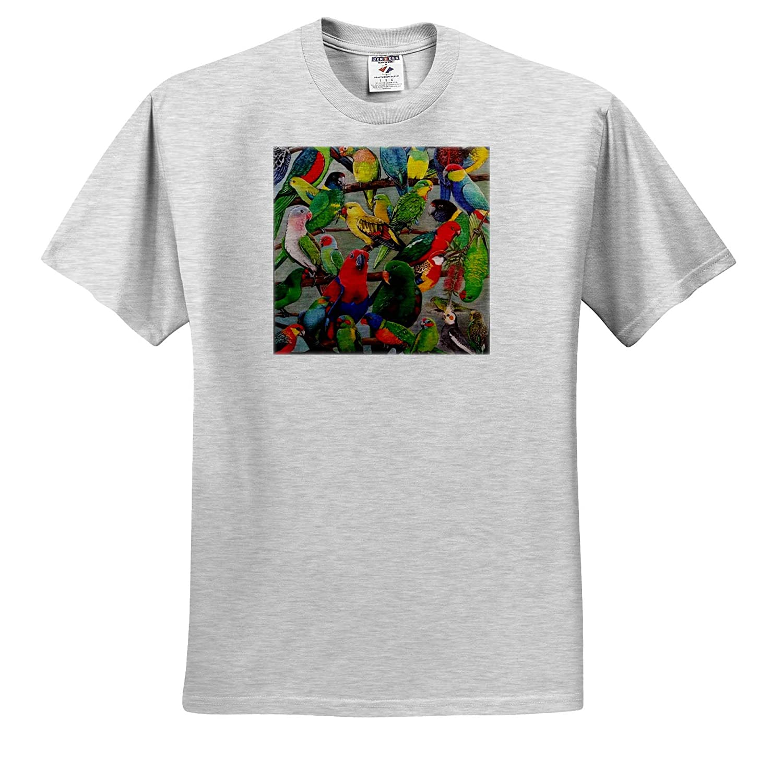 Parrots of Australia Adult T-Shirt XL 3dRose Skye Elizabeth Designs ts/_320530
