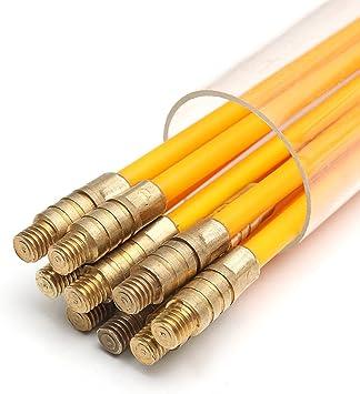 ChaRLes 10Pcs 1Mx3Mm Fibra De Vidrio Cable Tirador Corriente Cable ...