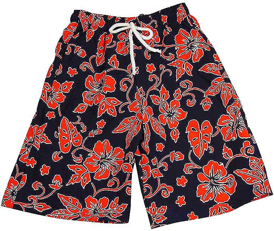 Ouxioaz Boys Swim Trunk Star Leaves Flower Design Beach Board Shorts