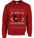 Inspired Dead in The Pool Merry Chimichanga Christmas Jumper Taco Christmas Ugly Sweatshirt