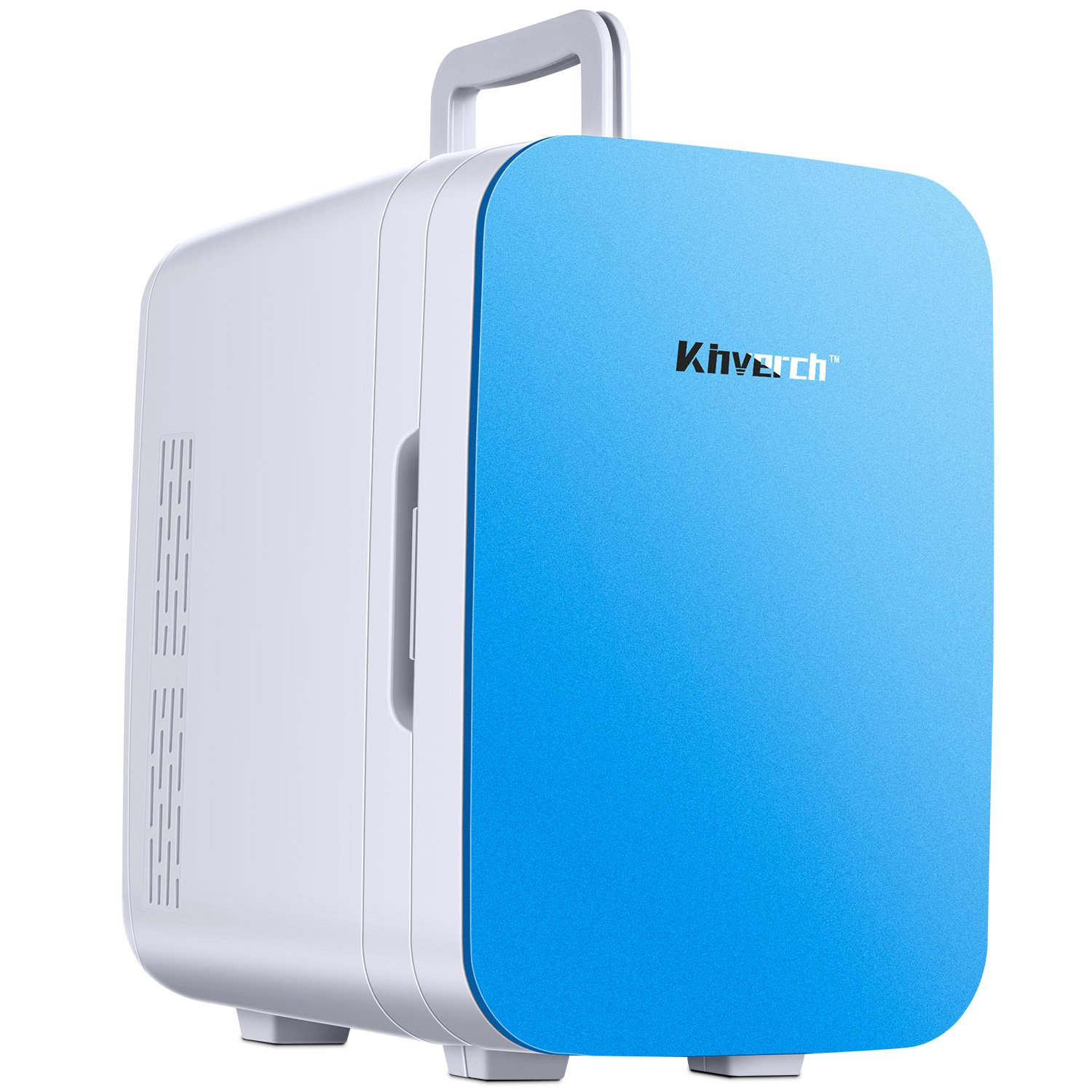 Kinverch Mini Fridge Electric Cooler and Warmer(10L/11Can) :110v AC/12V DC Portable Thermoelectric System,For Car/Home/Kichen/Junket/Outdoor for frinds/parents/yourself 10L (Blue)