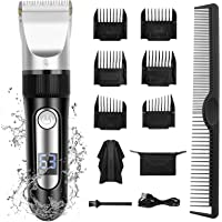 Hokongley Hair Clippers for Men Professional Cord Cordless Hair Trimmer Rechargeable Mens Haircut Grooming Set with LED…