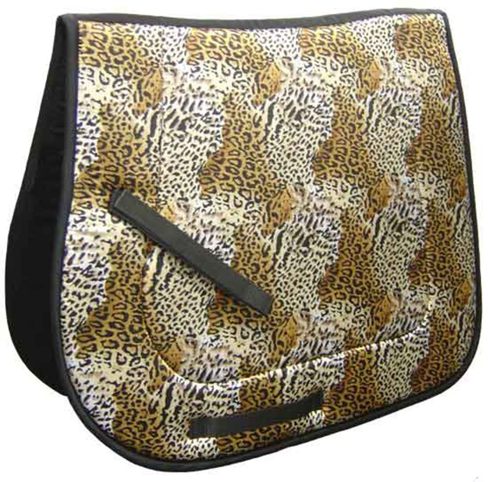 Derby Originals All Purpose Leopard Print English Saddle Pad