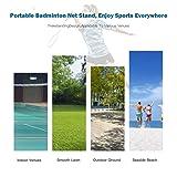 Goplus Portable Badminton Net Beach Volleyball