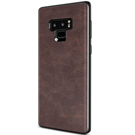 size 40 45db0 3853c Samsung Galaxy Note 9 Case, Salawat Slim PU Leather Vintage Shockproof  Phone Case Cover Lightweight Premium Soft TPU Bumper Hard PC Hybrid  Protective ...