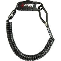 CROPS Pro Q4 Câble Antivol avec Combinaison - Mémoire de Forme : Revient à sa Forme Initiale - pour Moto, Vélo, Valises, Snowboard, Skis et Casque de Moto