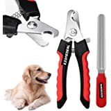 Dog Nail Clippers and Trimmer - With Safety Guard to Avoid Over-cutting Nails & Free Nail File - Razor Sharp Blades…