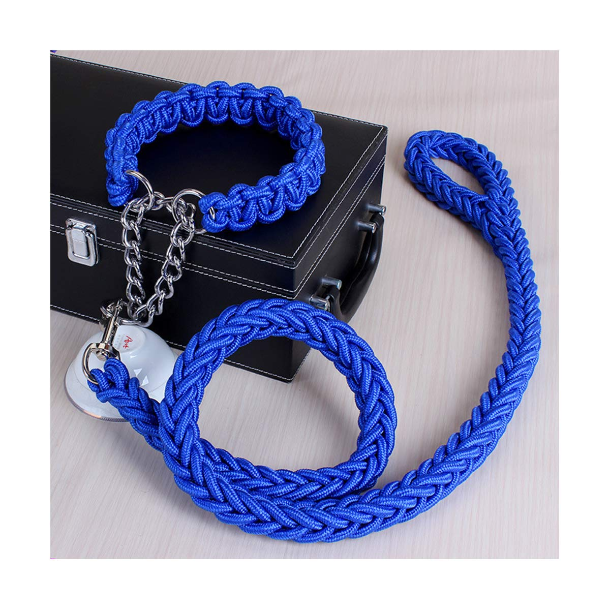 bluee XL bluee XL Dog Lead Leash Traction Rope,Nylon 1.3m Pet Dog Leash, Durable,Walking can Guarantee The Safety of Dogs