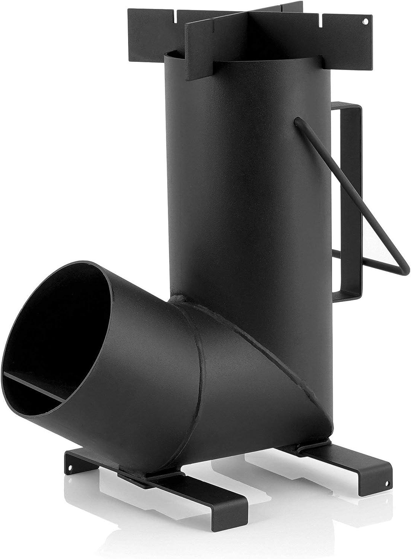 BBQ-Toro Estufa de Camping Cohete #6 I Acero de 1,5 mm I Portátil I Para Horno Holandés I Campamento