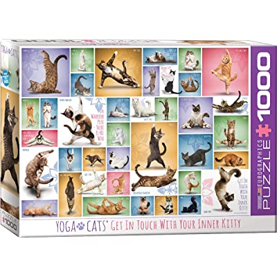 EuroGraphics Yoga Cats 1000-Piece Puzzle: Toys & Games