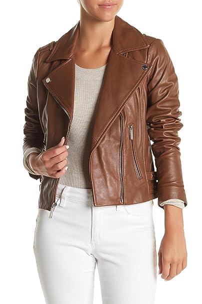 8d0a60a6105a Michael Michael Kors Leather Asymmetric Moto Jacket  Amazon.ca ...