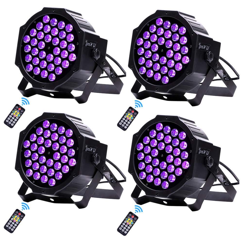 U`King Black Lights 2W x 36 UV LED Stage Light Glow in The Dark Effect Blacklight for Party Birthday Wedding DJ Disco Club Uplighting