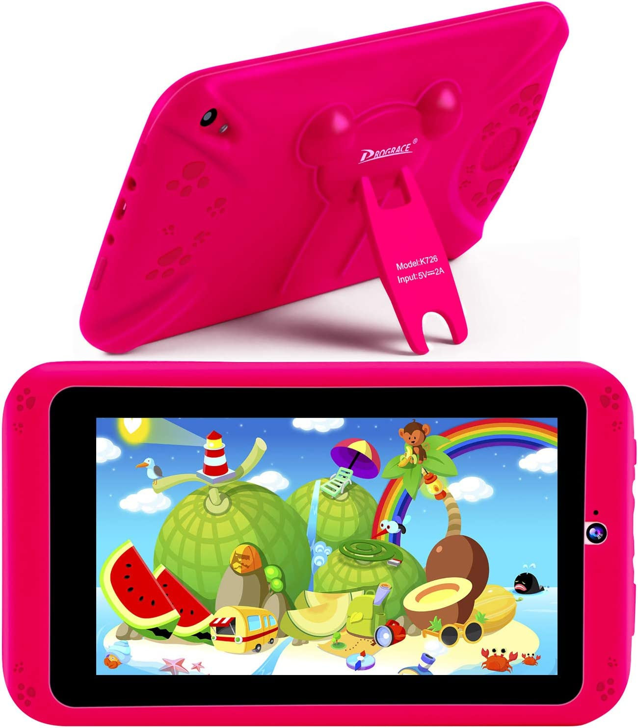 "PROGRACE Kids Tablets Android 9 QuadCore 2GB RAM 16GB ROM Learning Tablet for Kids Girls Toy Gift with Parental Control Toddler Children's Tablet 7"" IPS"