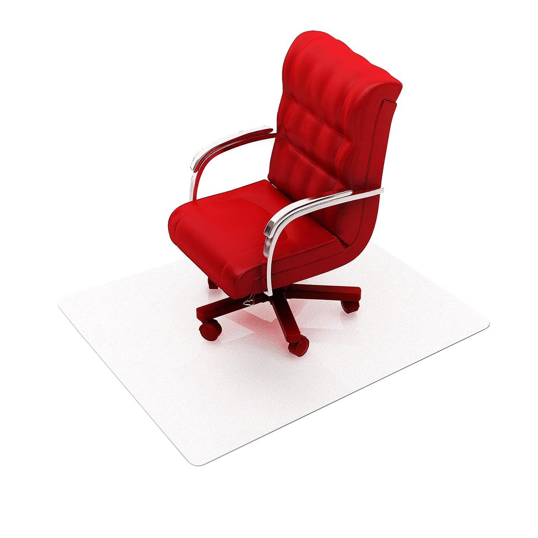 Clear 48 x 118 Floortex Cleartex Ultimat XXL Polycarbonate General Office Mat for All Pile Carpets FR1130023ER Rectangular