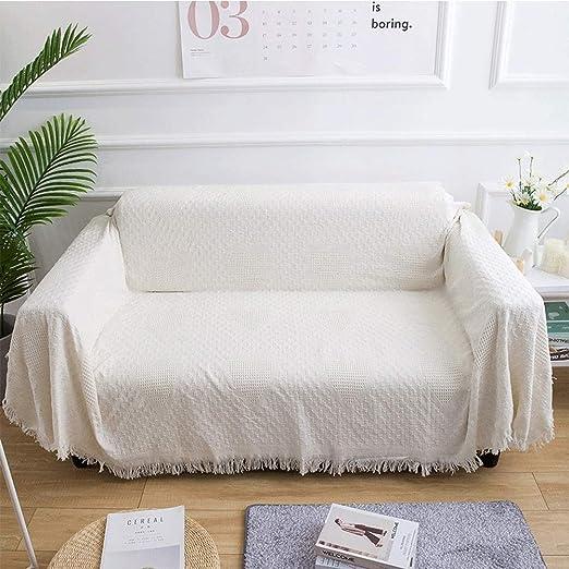 Sofá cama manta Manta tejida de algodón tejida Manta de ocio ...