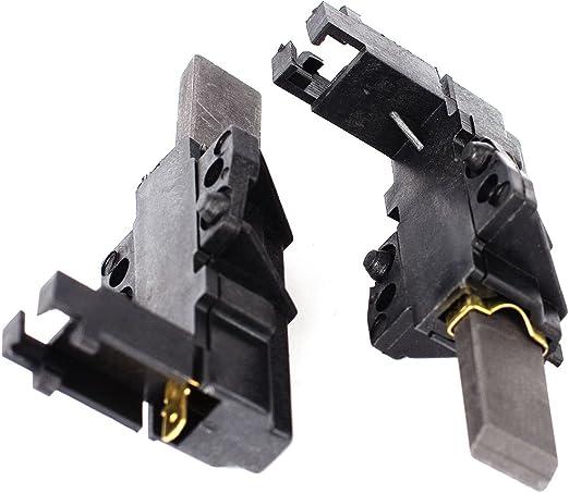 2 x Genuine Lavatrice Indesit Motore Di Carbonio Spazzole in Carbonio