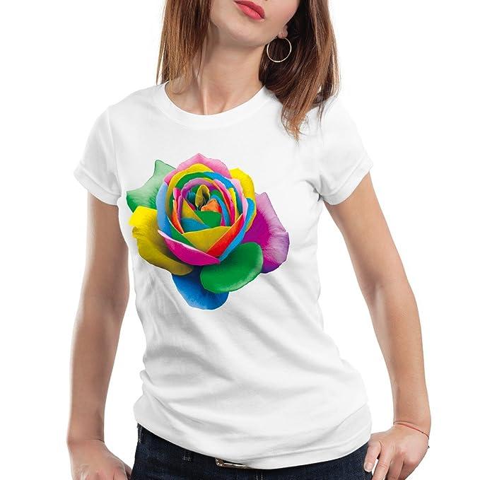 Design Shirt Colorada Y Accesorios Mujer Rosa Camiseta Style3 Para Ropa Amazon T es WEOF0qwpwZ