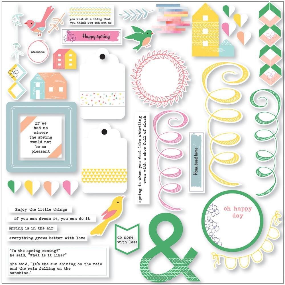 Pinkfresh Studio Felicity Die-Cut Cardstock Pieces PFRC100916