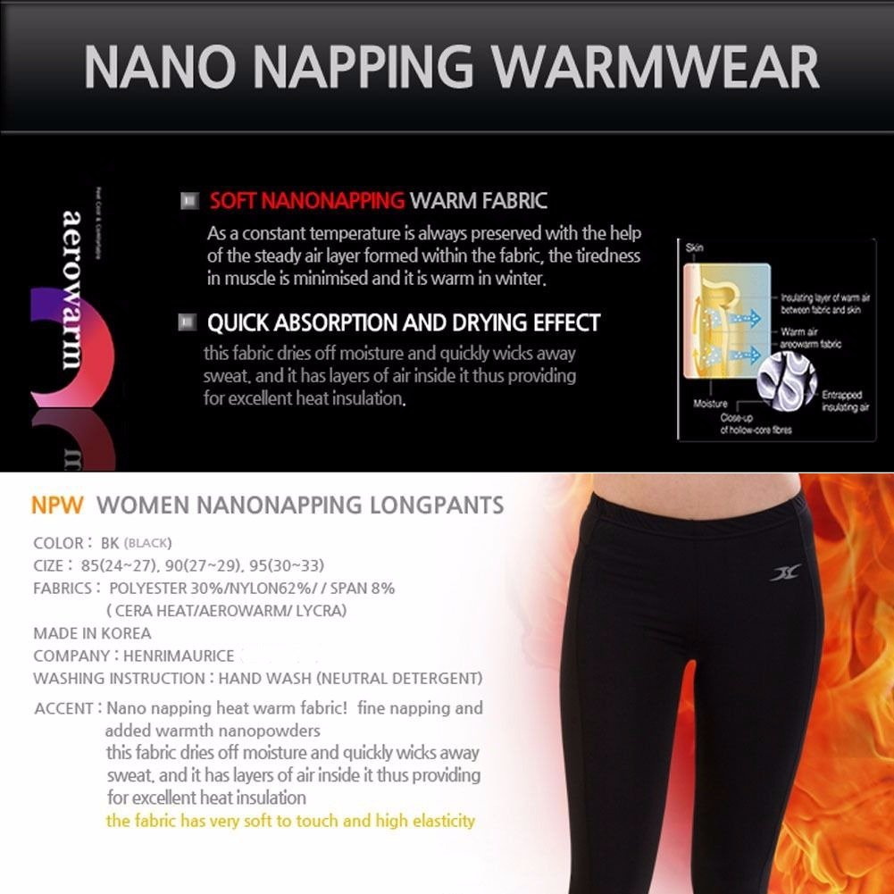 Women Thermal Underwear Pants Leggings Tights Base Layer Compression Bottoms NPW S by Henri maurice (Image #2)