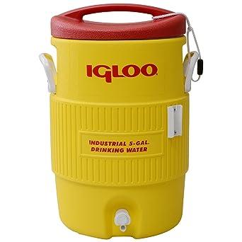 iGloo 385 – 451 – 400 serie refrigeradores, 5 Gal, rojo/amarillo