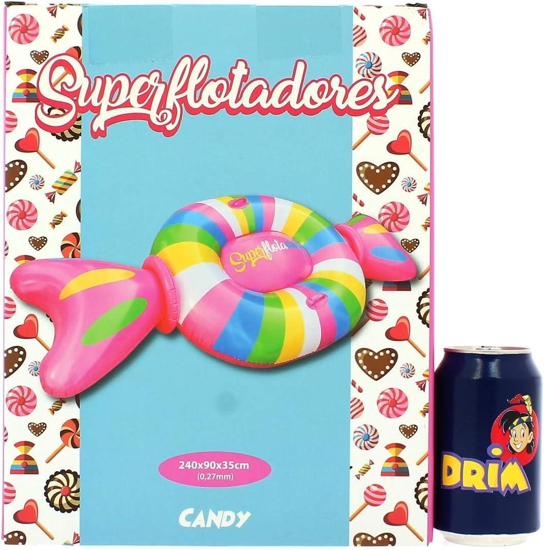 Superflotadores Colchoneta Hinchable Candy Caramelo, 240x90x35cm ...