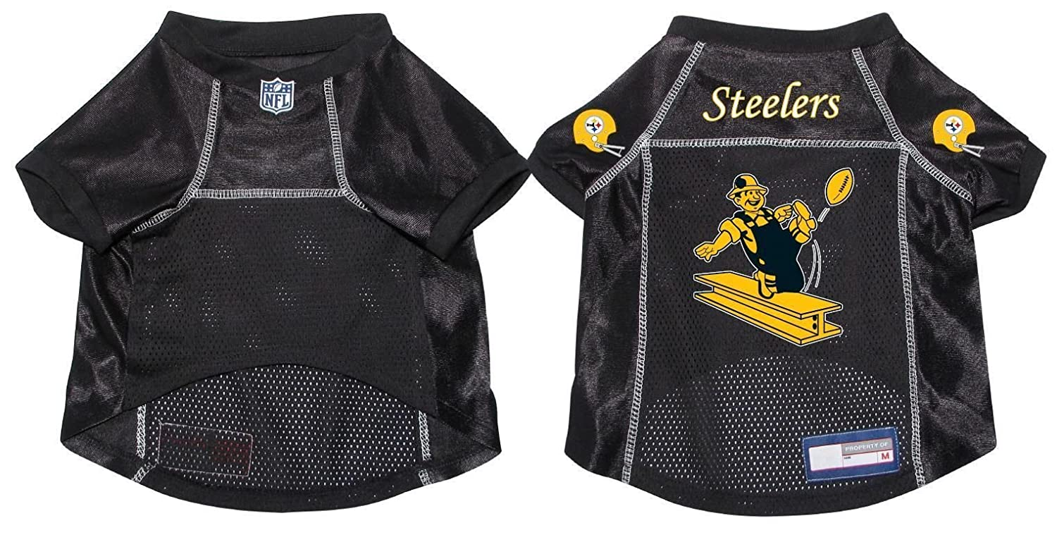 check out 7df63 a093b Pittsburgh Steelers Pet Dog Football Jersey Alternate MEDIUM