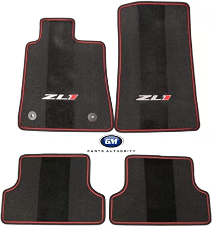 For Chevrolet Camaro 16-18 Premium All Weather Mat Package Black OEM Genuine GM