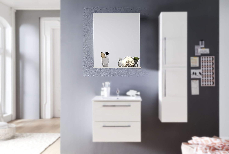 Trendteam Mueble Espejo de pared, Madera, Blanco, 60 x 78 x 16 cm ...