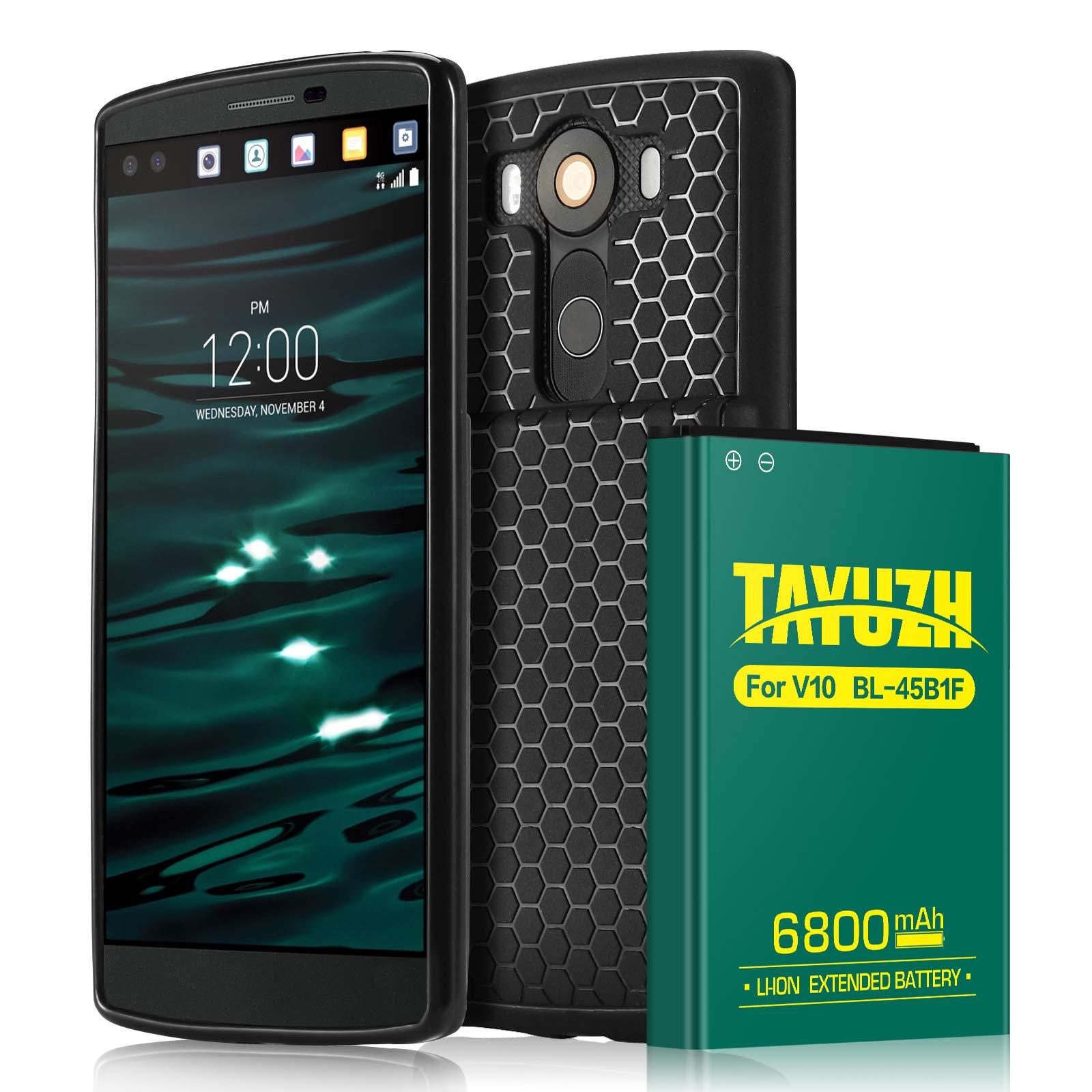 Bateria Celular Lg V10 | Tayuzh 6800mah Li Ion Lg V10 Extended Con Back Cover & Soft Tpu Protective Case Para Lg Bl 45b1