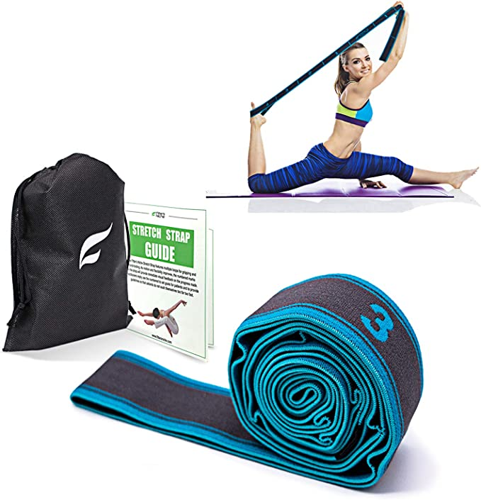 MRO High Elastic Yoga Fitness Resistance Band 8-Loop Training Strap Tension Resistance Exercise Stretching Band for Sports Yoga Dancing