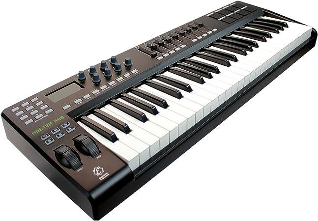 Eagletone K49 teclado MIDI/USB de 49 teclas Negro