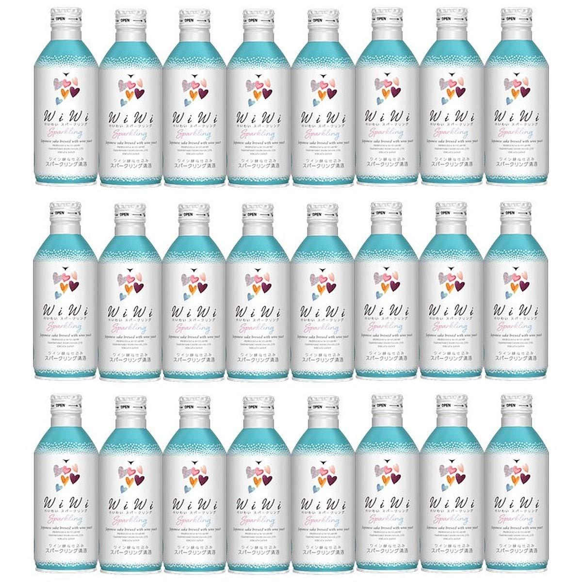 日本酒 ワイン酵母仕込み わいわい スパークリング 純米吟醸酒 アルミ缶 270ml 24本 1ケース 甘口 ギフト プレゼント 高野酒造 新潟  B07QQX29V8