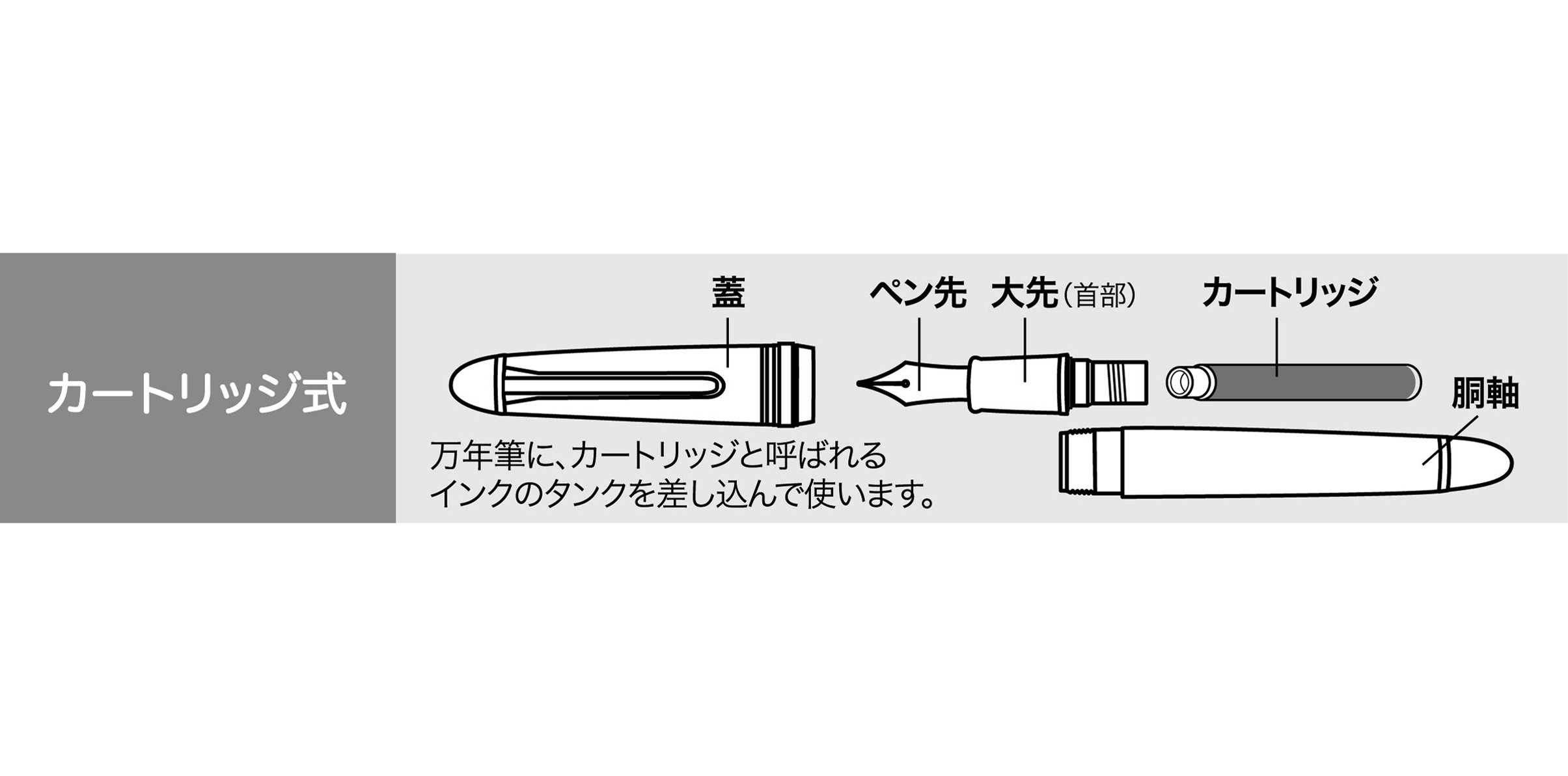 Sailor Fountain Pen Professional Gear Imperial Black Middle φ18×129mm 113028420 by Sailor Pen (Image #2)