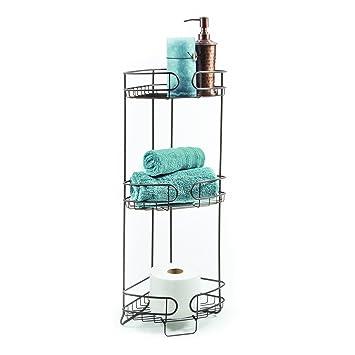 Amazon.com: HomeCrate Bathroom Accessories Corner Stand Open Wire ...
