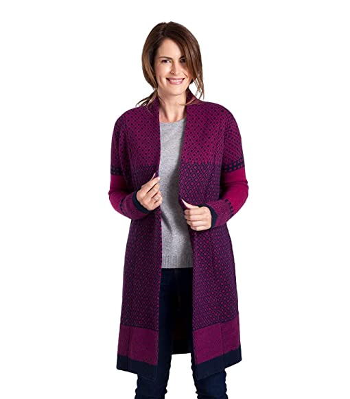 Wool Overs WoolOvers Womens Lambswool Fairisle Edge To Edge ...