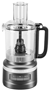 KitchenAid KFP0919BM 9 Cup Food Processor Plus, Black Matte